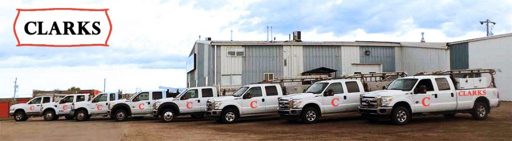 garage-door-repair-fleet-of-service-trucks for Clarks