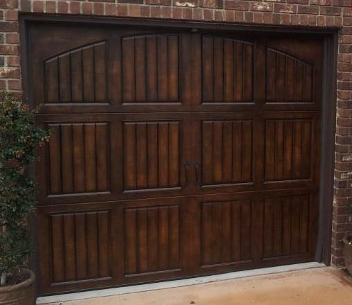 Give Your Bland Garage Door A Faux Wood Grain Finish!