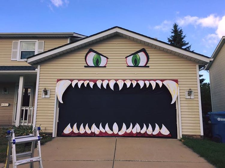Internet Fame For The Monster Garage Door