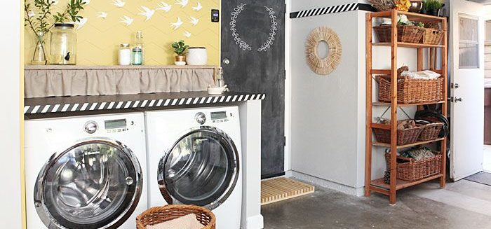 Turn Your Garage Into A Laundry Room